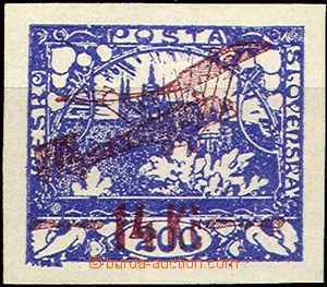 36694 - 1920 I.emise  Pof.L1, krásné okraje, stopa po nálepce, zk