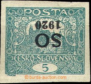 36702 -  Pof.SO3, open spiral, inverted overprint, heavier hinged, u