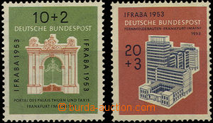 36724 - 1953 Mi.171-172, IFRABA, superb, c.v.. 60€