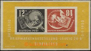 36726 - 1950 Mi.Bl.7, aršík DEBRIA, luxusní, kat. 190€