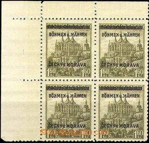 36733 - 1939 Pof.13 with overprint, left-upper corner of block of fo