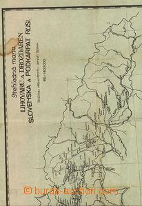 36750 - 1925? mapa lihovarů a drožďáren Slovenska a Podkarpatsk�