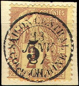 36765 - 1886 Mi.3, nice complete postmark, c.v.. 18€