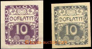 36799 - 1919 Pof.DL2, Ornament,  ZT hodnoty 10h tištěné hlubotisk