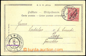 36815 - 1901 DEUTSCH (GERMAN) SOUTH-WEST AFRICA  postcard with 10Pf