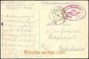 36826 - 1915 K.u.K Divisionbäckerei Nr.92 oval red postmark supplem