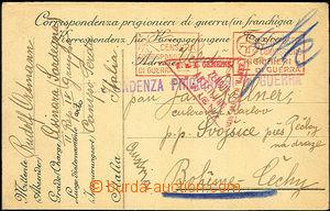 36827 - 1916 Italy card from Czech prisoner in/at Asinara Sardegna,