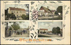 36832 - 1914 Čejtice - 4-view coloured, Us good condition