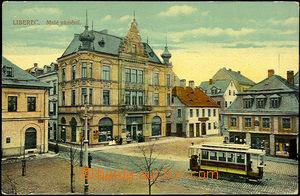 36833 - 1914 Liberec -  single-view, Malé square with tram, color c