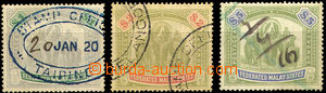 36846 - 1904 Mi.35, 36, 37, c.v.. 275€