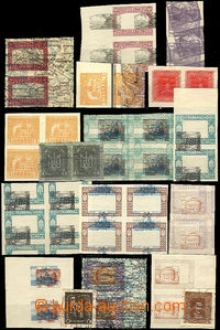 36854 - 1919 1919 collection of 40pcs of stamps (17pcs of blocks of4