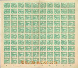 36861 -  Pof.8, 20h modrozelená, kompletní 100-známkový arch s o