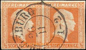 36869 - 1859 Mi.13, pair, c.v.. 360€, superb (!!)