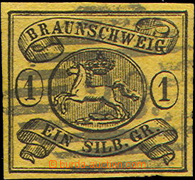 36871 - 1853 Mi.6, nice numeral pmk 20 and margins, c.v.. 60€