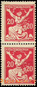 36901 - 1920 Pof.151A, vertical pair with significant flaw print inc