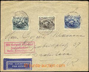 36938 - 1930 letecký dopis zaslaný do ČSR, vyfr. zn. emise Rembrant
