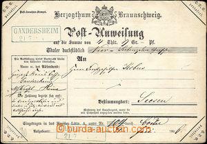 36939 - 1866 poštovní poukázka osvobozená od poštovného, DR Ga