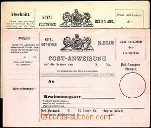 36941 - 1870? 2ks nepoužitých poštovních poukázek, každá jin�