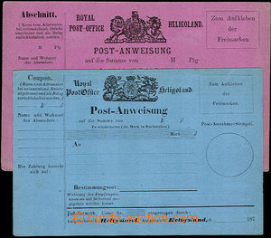 36945 - 1870 comp. 2 pcs of Un postal orders, any other one, blue an