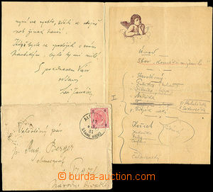 37003 - 1891 Historical document - letter from composer Leos Janacek