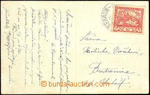 37027 - 1919 předběžné rakouské raz. VLP 380/ BERAUN - RAKONITZ