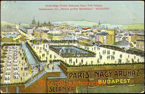37053 - 1915 Budapest - pohled na obchodní dům Pariser grosser War