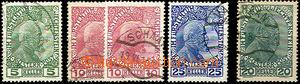 37063 - 1912-18 Mi.1x-3x, 10 (2ks 2x), kat. 108€