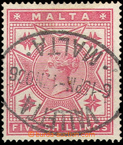 37067 - 1886 10Sh stamp. Mi.10,  very nice CDS Vallette 17.No.06, c.