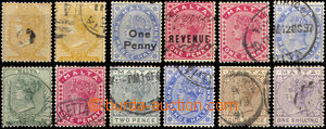 37068 - 1882-97 comp. 12 pcs of stamp., contains i.a. Mi.3a, 3b, 4-9