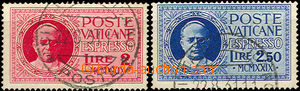 37103 - 1929 Mi.14-15 Pius XI. - express, clear postmark, good condi