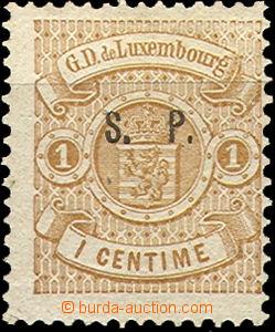 37108 - 1882 Mi.22/I. služební s přetiskem S.P., jedna strana těsněj
