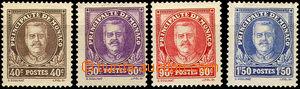 37113 - 1933 Mi.116-19 Louis II., zbytky nálepek, u č.119 stopy arch