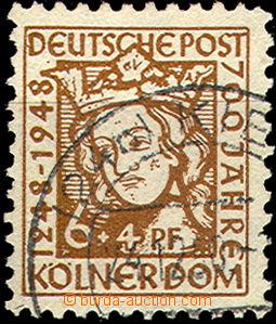37211 - 1948 ALIANČNÍ  Mi.69xB Kölner Cathedrale, clear postmark,