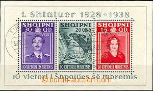 37226 - 1938 Mi.Bl.3, c.v.. 90€