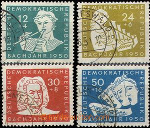 37231 - 1950 Mi.256-259, Day of Bach's Death, well preserved, c.v..