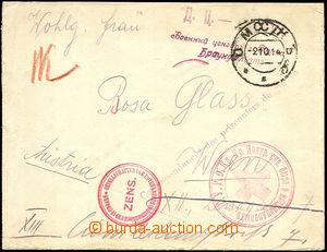 37249 - 1914 letter sent via zajateckou post Red Cross from Minska 2