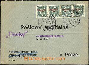 37278 - 1939 odpovědní obálka adresovaná na Pošt. spořitelnu d