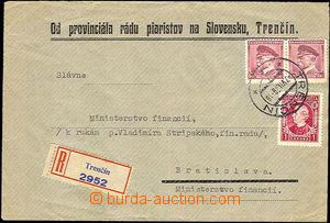 37280 - 1939 firemní R dopis vyfr. smíšenou frankaturou souběžn