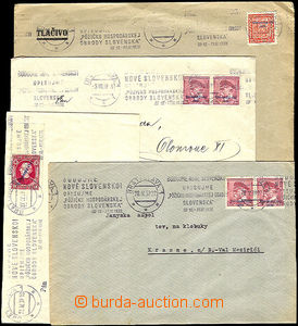 37283 - 1939 comp. 4 pcs of letters with advertising MC Budujeme new