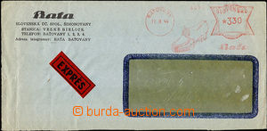 37284 - 1944 window envelope sent as express with Slovak print meter