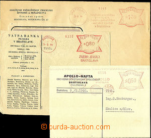 37285 - 1940-44 3 pcs of entires with Slovak meter stmp, Apollo Brat