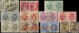 37302 - 1927/32 comp. 11 pcs of opposite facing pairs K (listing att