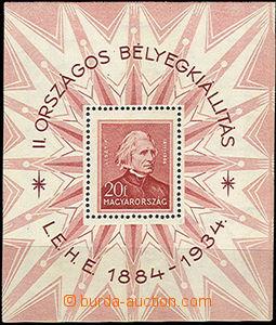 37325 - 1934 Mi.Bl.1, Filatelistická výstava, lehké skvrnky a za�
