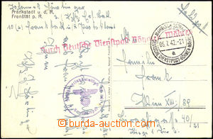 37353 - 1942 postcard and CDS German Service post Bohemia and Moravi