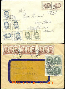 37359 - 1953 2 pcs of letters franked on front sides., 1x CDS Nechan
