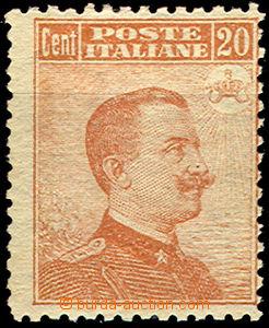 37360 - 1916 Mi.125 Viktor Emanuel III., jedna strana těsná perfor