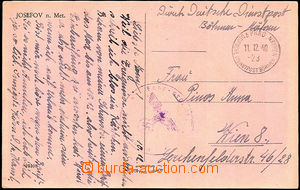37369 - 1940 postcard with small CDS German Service post Bohemia and