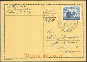 37373 - 1938 lístek vyfr. čs. příplatkovou zn. Dětem Pof.317 s