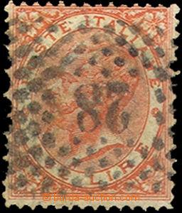 37378 - 1863 Mi.63 Viktor Emanuel II., číslicové razítko 28, př