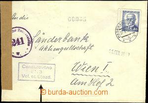 37386 - 1947 dopis adresovaný do Rakouska s čs. cenzurou - rámeč